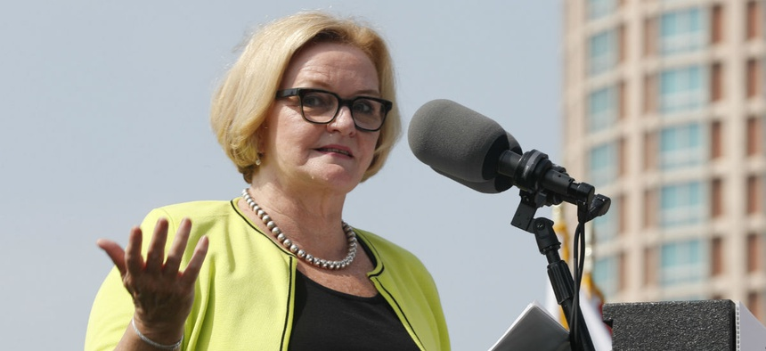 Sen. Claire McCaskill, D-Mo., is one of the senators in a tough re-election race who still opposed the executive orders.