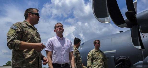 Will Roper, then director of strategic capabilities for the office of the Secretary of Defense, visits Hurlburt Field to get a better understanding of Team Hurlburts Air Commandos and their capabilities on July 25, 2017.
