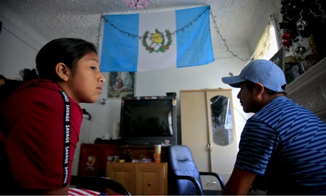 Guatemalan asylum seekers Manuela Adriana, 11, and her father Manuel Marcelino Tzah are among the few immigrant families who have been reunited.