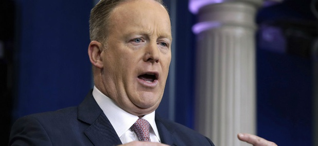 "Then White House spokesman Sean Spicer described President Trump's inaugural crowds using what an administration official described as ""alternative facts"" in January 2017."