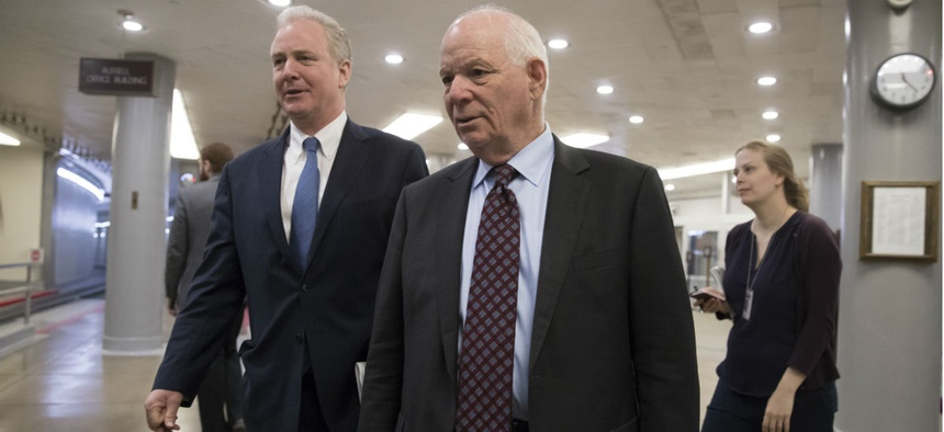 Maryland Democratic Sens. Chris Van Hollen (left) and Ben Cardin sent letters to SSA officials.