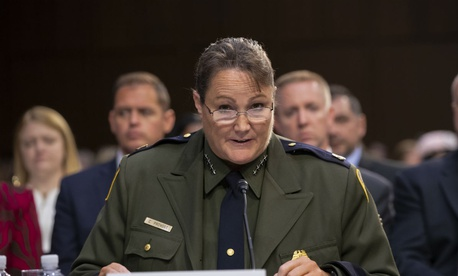 Border Patrol Chief Carla Provost testifies before the Senate Judiciary Committee on July 31.