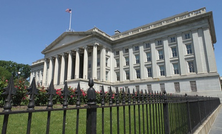 Treasury Department headquarters in Washington.