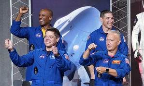 The NASA astronauts assigned to SpaceX's Crew Dragon.