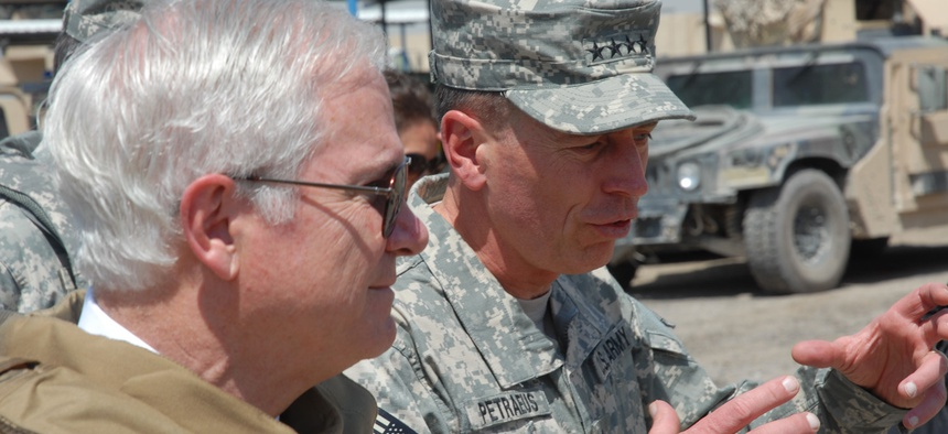 General David Petraeus and Defense Secretary Robert Gates in 2007.