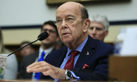 Commerce Secretary Wilbur Ross testifies on Capitol Hill earlier this summer.