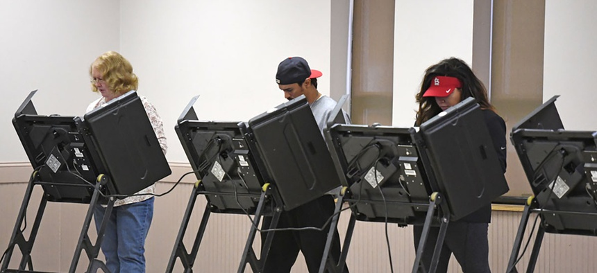 Missourians vote in St. Louis in November 2016.