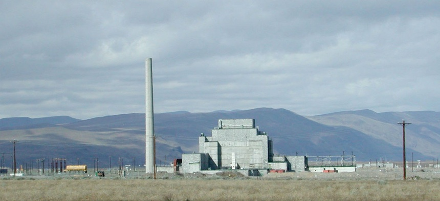 View of the B-Reactor at the Hanford nuclear site.