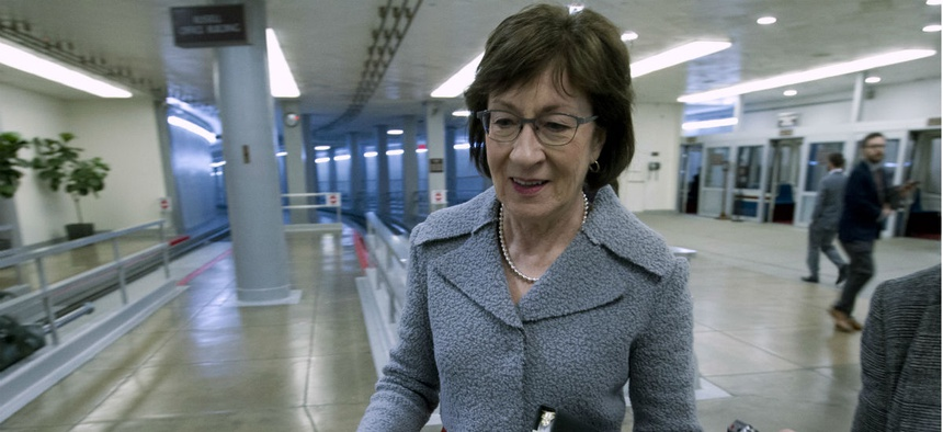 "Sen. Susan Collins, R-Maine, co-sponsored a bill that ""would ensure that administrative law judges remain well qualified and impartial, while this crucial process remains nonpartisan and fair."""