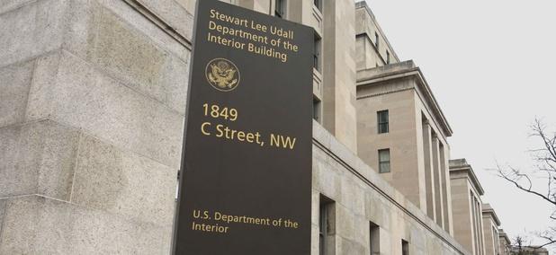 Interior Department headquarters in Washington.