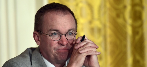 White House Budget Director Mick Mulvaney says he wants to roll back enforcement of the Military Lending Act.