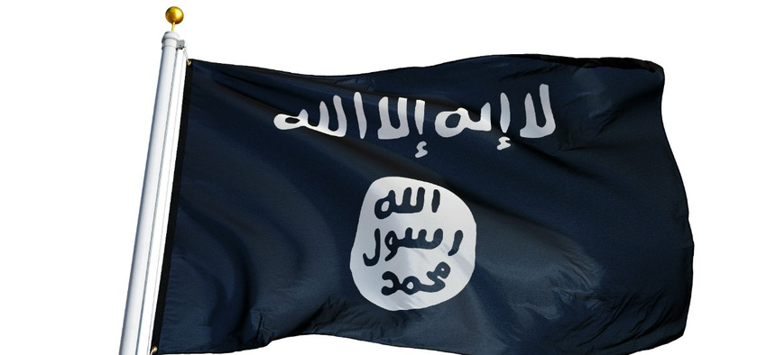 The Islamic State of Iraq and the Levant flag.