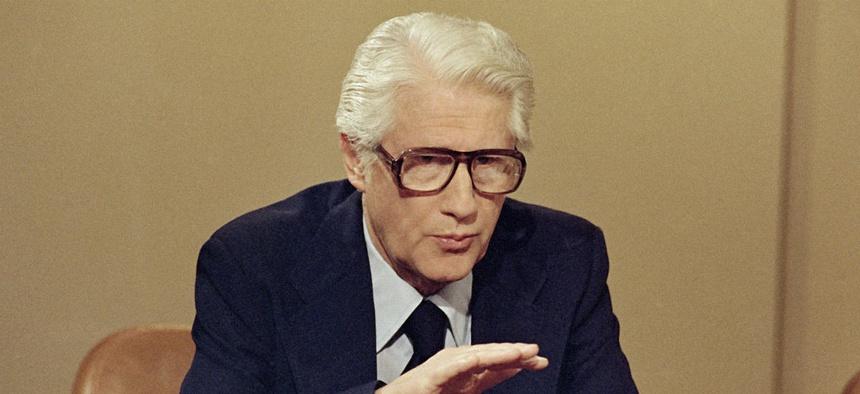 Mark Felt speaks in Washington in April 1978.