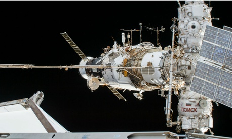 A portion of the International Space Station's Russian segment.