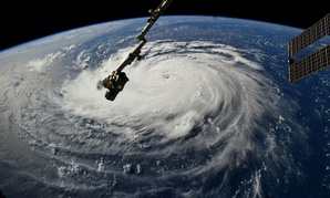 Astronaut Ricky Arnold, from aboard the International Space Station, shared this image of Hurricane Florence on Sept. 10.