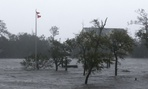 High winds and storm surge from Hurricane Florence hit Swansboro, N.C., Friday.