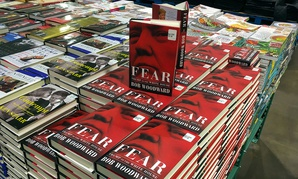 Copies of Bob Woodward's 'Fear: Trump in the White House' are displayed for sale at a Costco in Virginia.