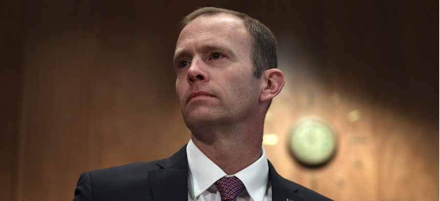FEMA Administrator Brock Long testifies before Congress last fall.
