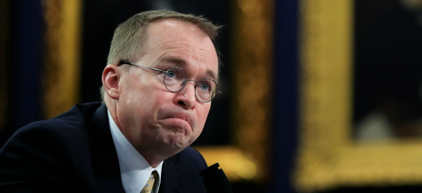 Mick Mulvaney testifies on Capitol Hill in April.