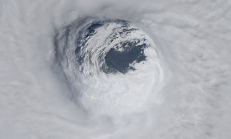 Hurricane Michael's enormous eye, as photographed by the NASA astronaut Serena Auñón-Chancellor.