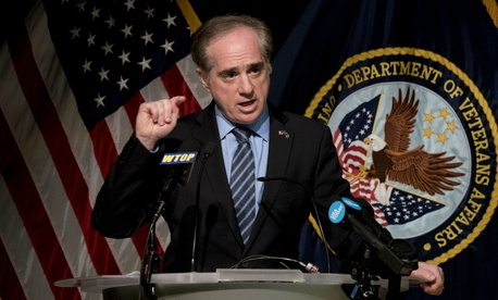 Then-VA Secretary David Shulkin speaks at a press conference in early March.