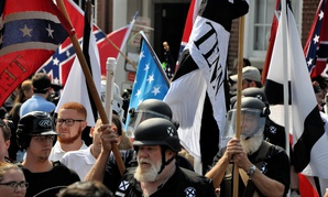 White supremacists gather in Charlottesville in 2017.