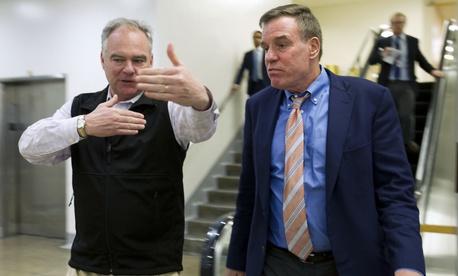 Virginia Democratic Sens. Tim Kaine (left) and Mark Warner signed the letter.