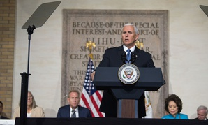 Vice President Michael Pence hosts a meeting of the National Space Council in October.