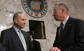 Senators Schumer (left) and Grassley (right) are behind the IRS private debt collection scheme.