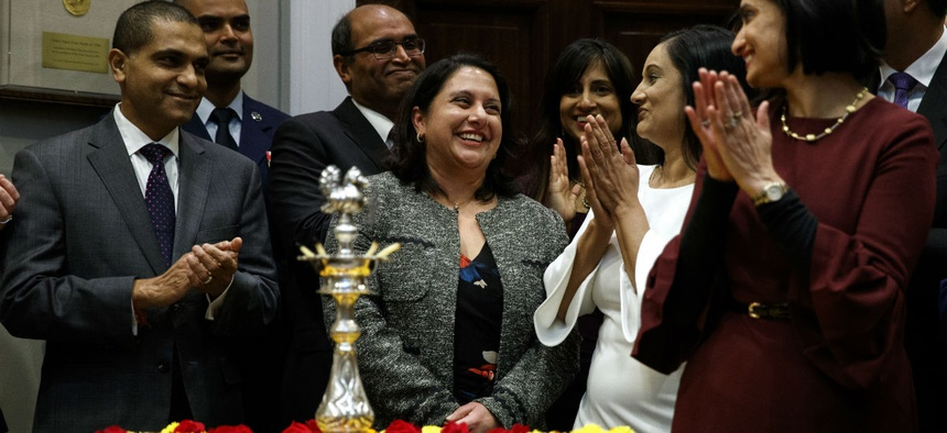 Neomi Rao, the administrator of the Office of Information and Regulatory Affairs, after President Trump announced that he would nominate her to fill Brett Kavanaugh's seat on the U.S. Court of Appeals for the D.C. Circuit.