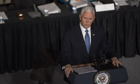 Vice President Mike Pence hosts a meeting of the National Space Council in October