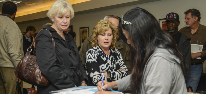 NASA and Edwards Air Force Base employees attend a federal health fair in 2014.