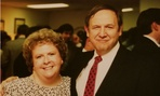 Don Clay and Marjorie Weidenfeld Buckholtz (the author) are pictured at a Washington event in 1990.