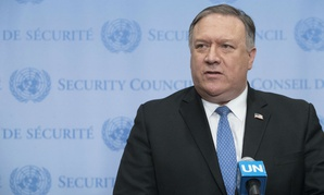 Secretary of State Mike Pompeo speaks to the press at United Nations headquarters earlier in December.