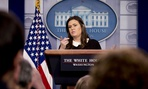 White House Press Secretary Sarah Huckabee Sanders held a press conference Tuesday, during which she said the Senate must act before Trump decides what he will support.