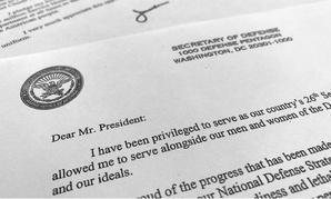 Defense Secretary James Mattis' resignation letter.