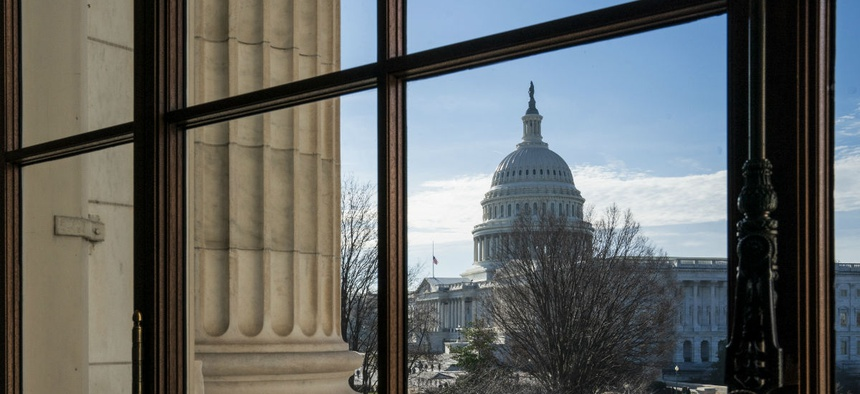 The Capitol Dome is seen from the Russell Senate Office Building on Thursday.