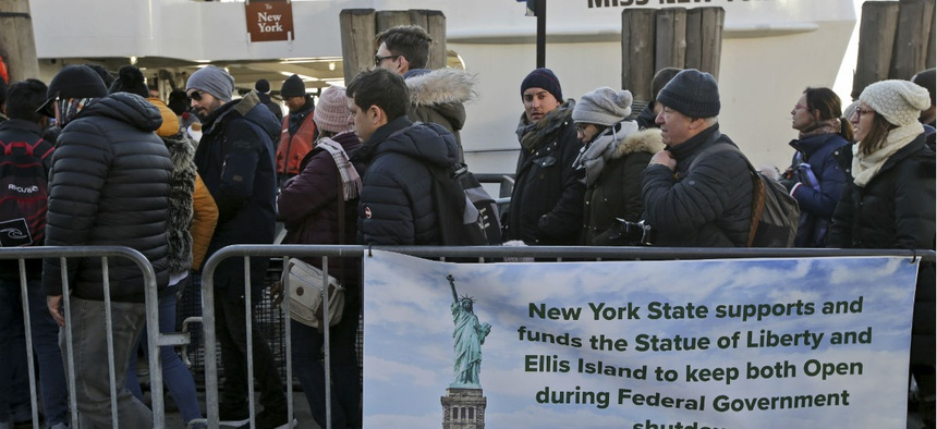 New York State is covering the costs of keeping the Statue of Liberty and Ellis Island open during the government shutdown.