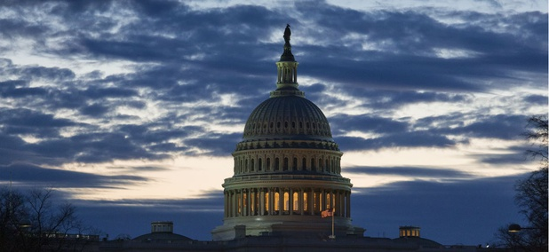 Dawn arrived at the Capitol as the partial government shutdown entered Day 18 on Tuesday, Jan. 8.