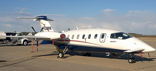 Among the defense-related firms affected by the shutdown is Engility, whose NASA trip-planning software was tested aboard this Piaggio P. 180 Avanti aircraft.