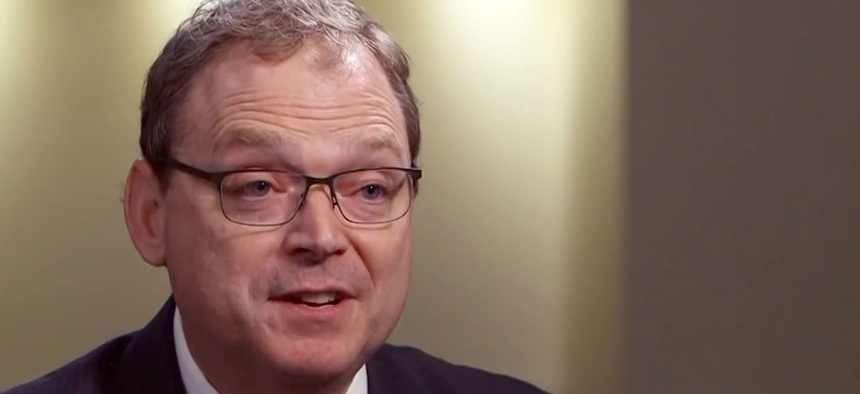 "White House adviser Kevin Hassett said ""in some sense, they're better off,"" of furloughed feds."