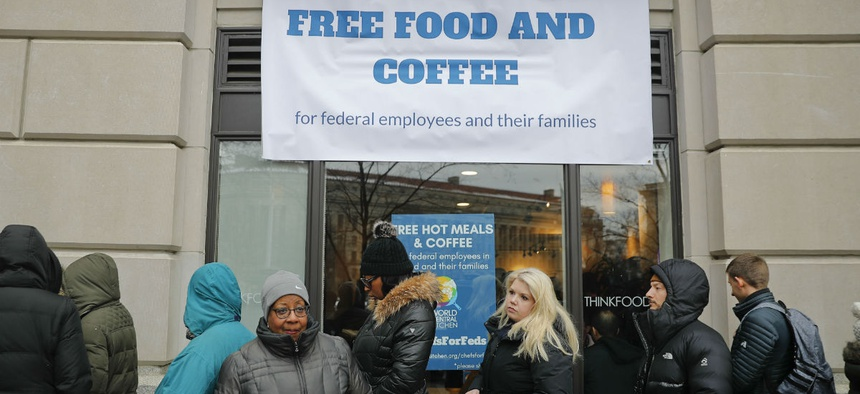 Chef Jose Andres' World Central Kitchen offers food to federal workers who aren't being paid during the shutdown.