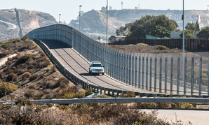 San Diego, California and Tijuana, Mexico international border wall