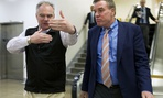Virginia Democratic Sens. Tim Kaine (left) and Mark Warner are urging the OPM director to protect dental and vision benefits during the shutdown.