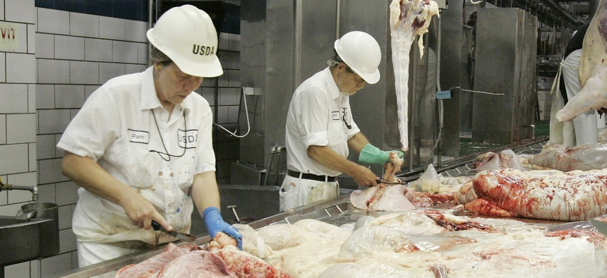 Agriculture Department food inspectors are also starting to feel a pinch.