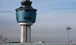 At Laguardia, a shortage of air traffic controllers caused delays Friday morning.