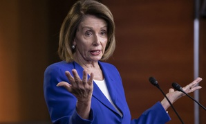 Speaker of the House Nancy Pelosi talks to reporters during a news conference Jan. 31 after a bipartisan group of House and Senate bargainers met to craft a border security compromise.