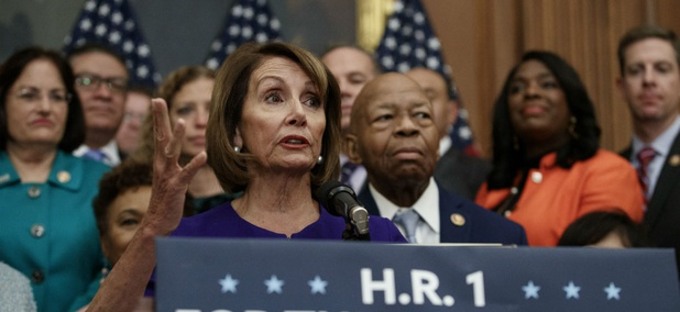 House Speaker Nancy Pelosi unveiled H.R. 1 in early January as the Democrats' top priority in the 116th Congress.