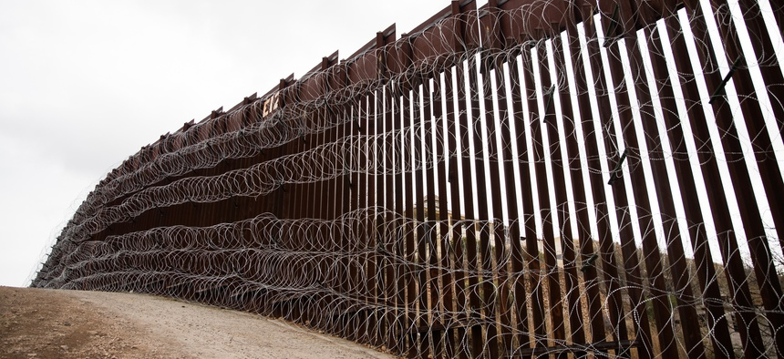 Layers of Concertina are added to existing barrier infrastructure along the U.S. - Mexico border near Nogales, Arizona earlier this month.