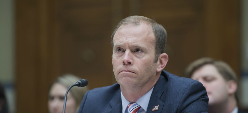 FEMA Administrator Brock Long testifies on Capitol Hill in November 2018.